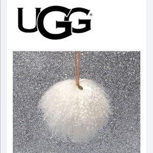 UGG Australia  Fur Pom Christmas Tree Ornament